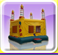 Birthday Cake Moon Bounce